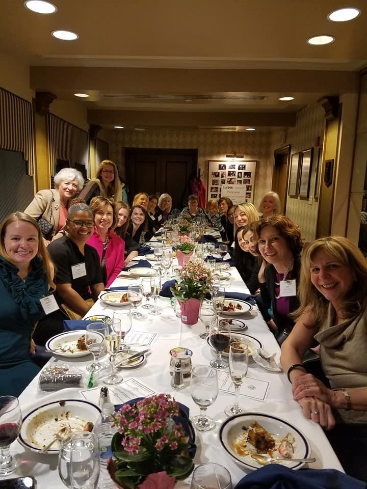 2018 annual WWPR dinner for past Presidents and winners of the PR Woman of the Year award