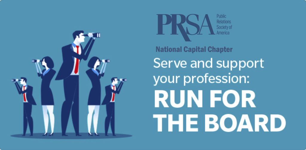 Call for New PRSA-NCC Board Members for 2020!
