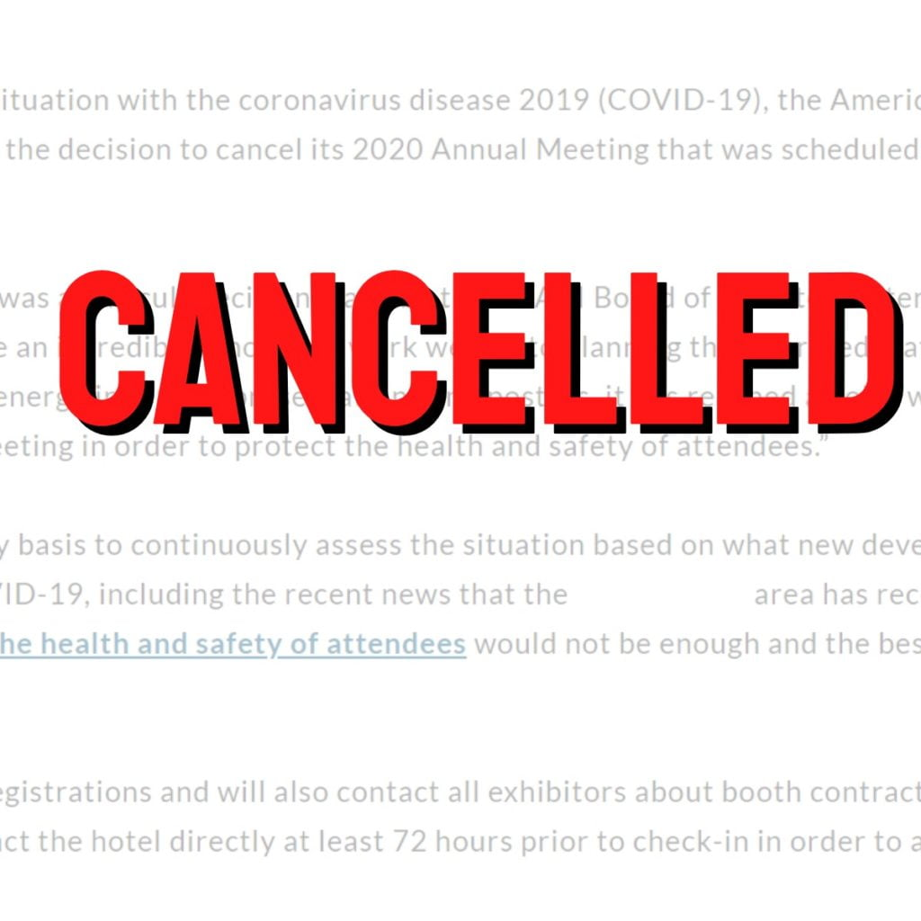 What do PR professionals do when COVID19 cancels major annual meetings?